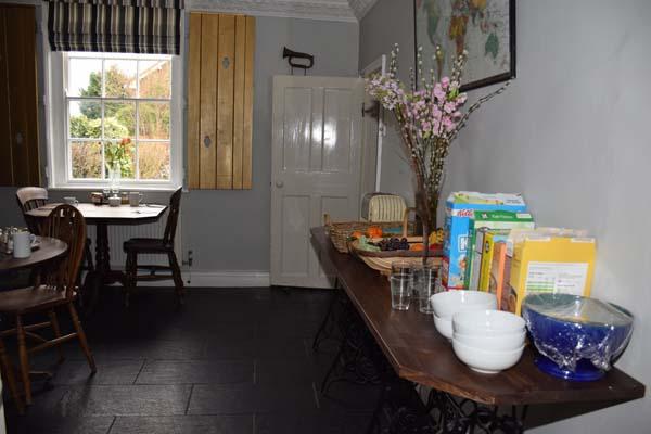 Nottingham B&B - Primrose House - Breakfast room